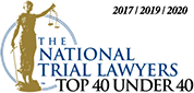 National Trial Lawyers Top 40 Under 40 award 2017-2019