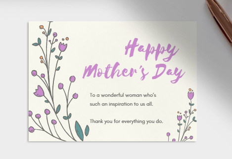 purple mothers day card