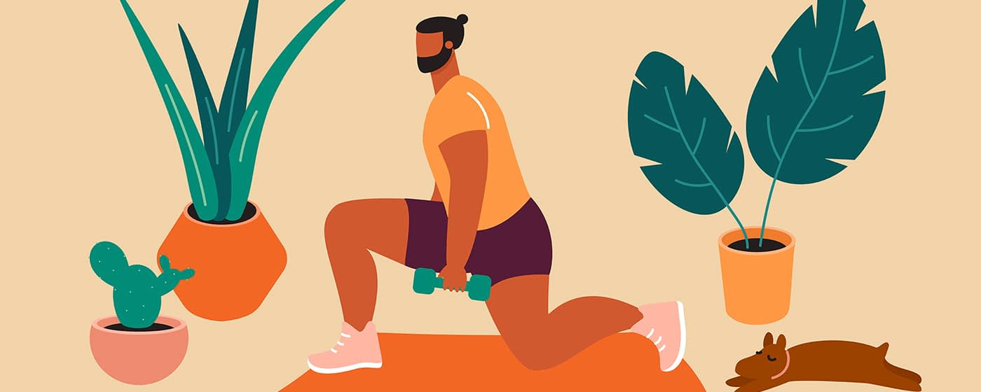 working out illustration