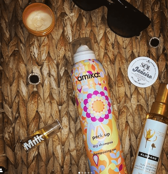 A variety of products used for protecting your hair from sun damage