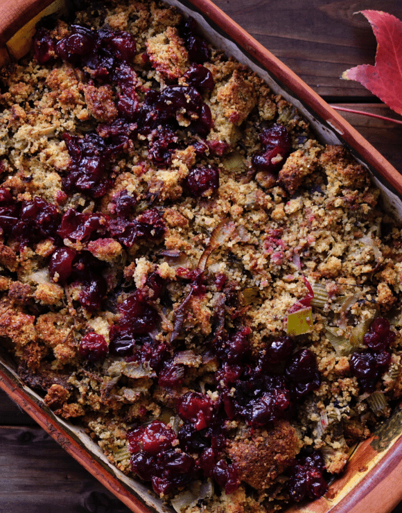 A pain of vegan stuffing for thanksgiving recipe