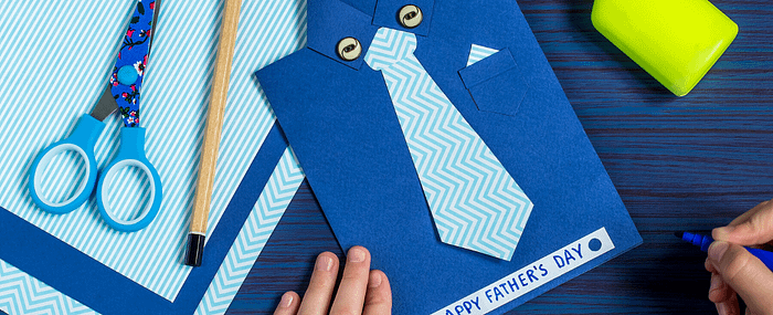 diy fathers day card with tie