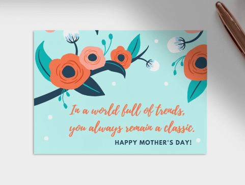 blue mothers day card