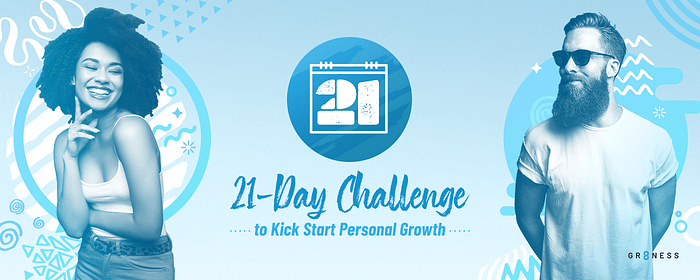 Banner featuring two athletes to help start the 21 day self care and growth challenge