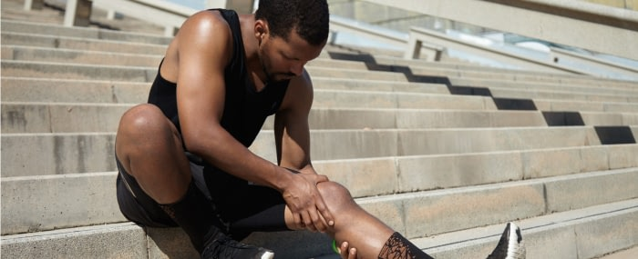 An athlete in need of natural remedies for muscle spams