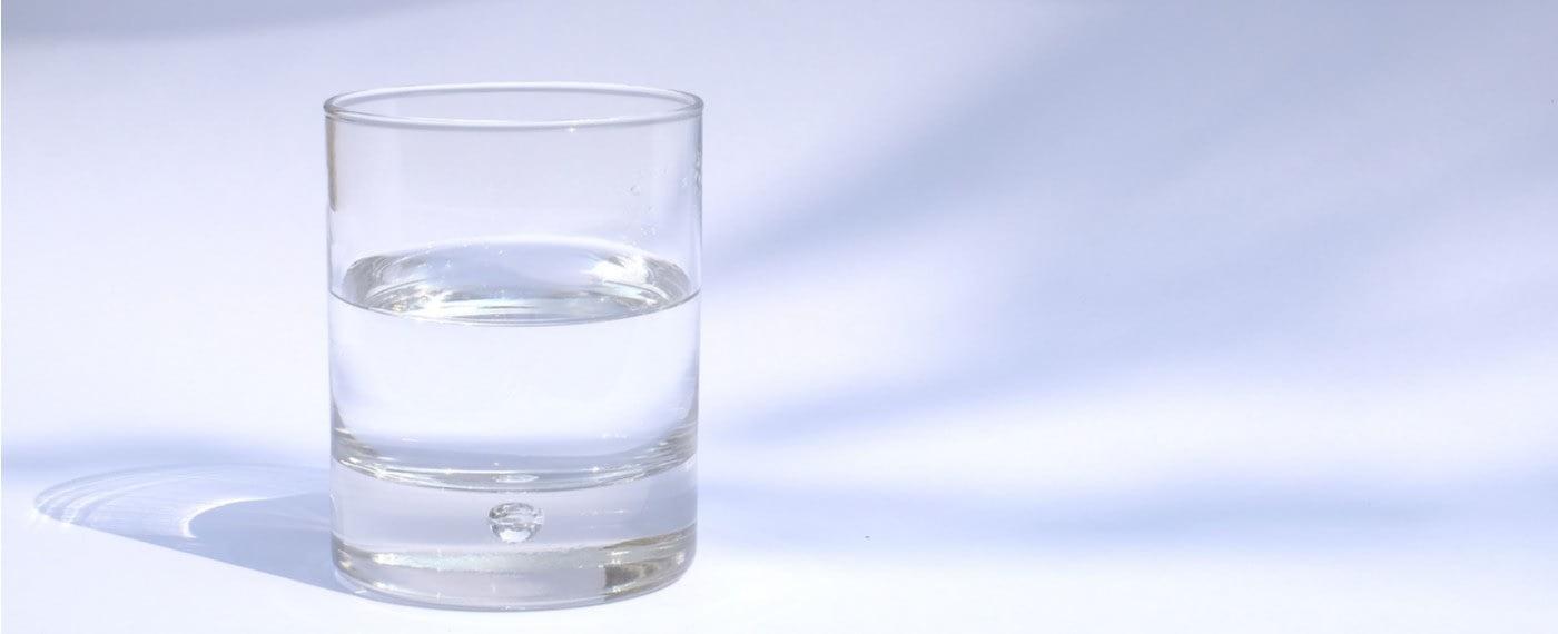 a glass of alkaline water