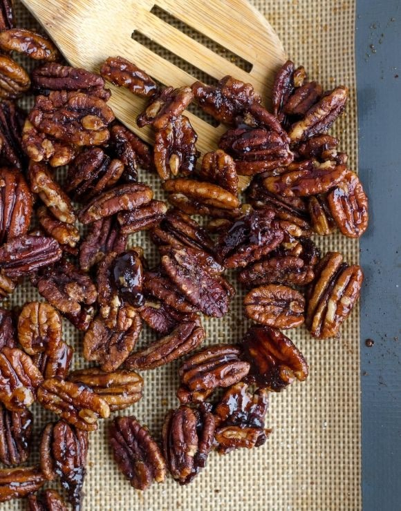 Glazed pecans, delicious and healthy!