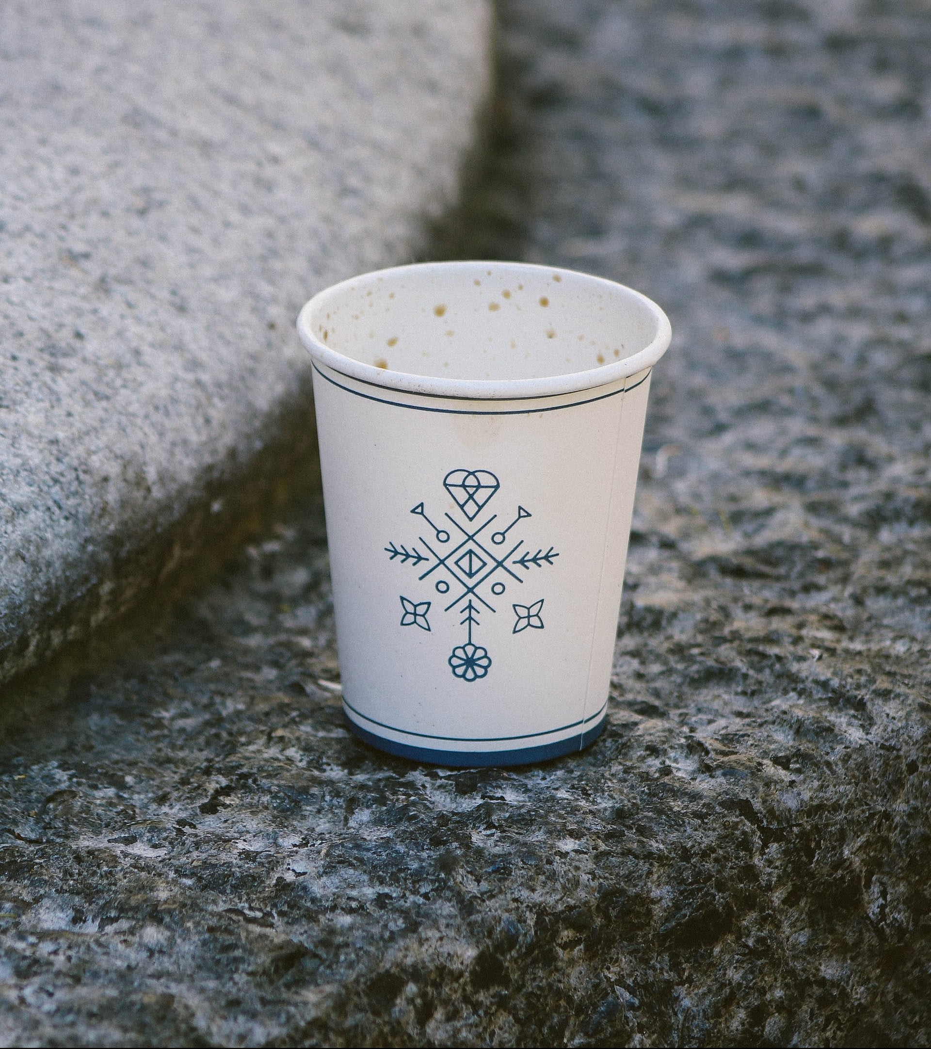 A small paper coffee cup that secretly contains plastic