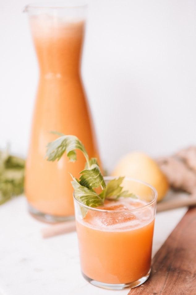Celery and orange digestive juice