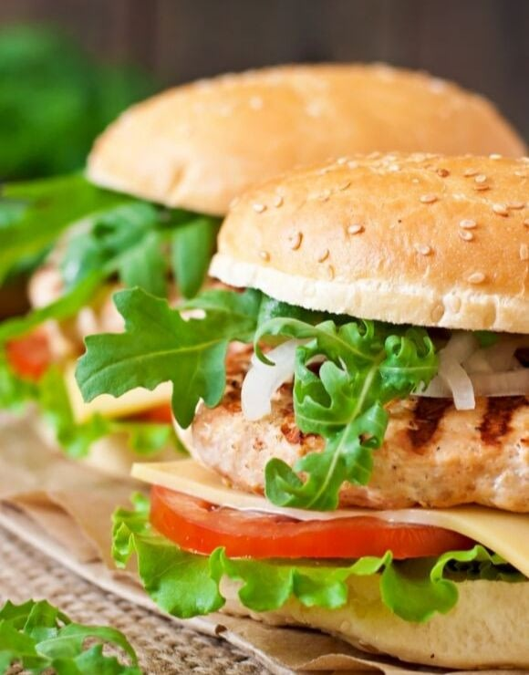 A fresh, delicious grilled chicken sandwich on sesame seed bun