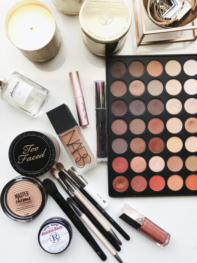 A variety of makeup products that may contain harmful ingredients