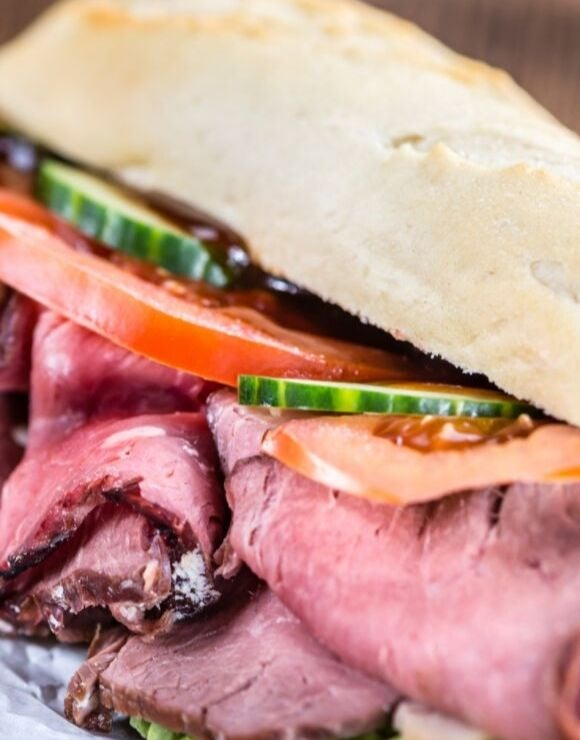 A delicious roast beef sandwich that isn't bad for you