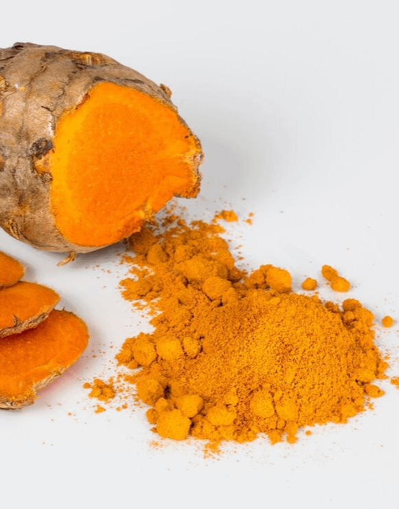 a pile of powdered turmeric