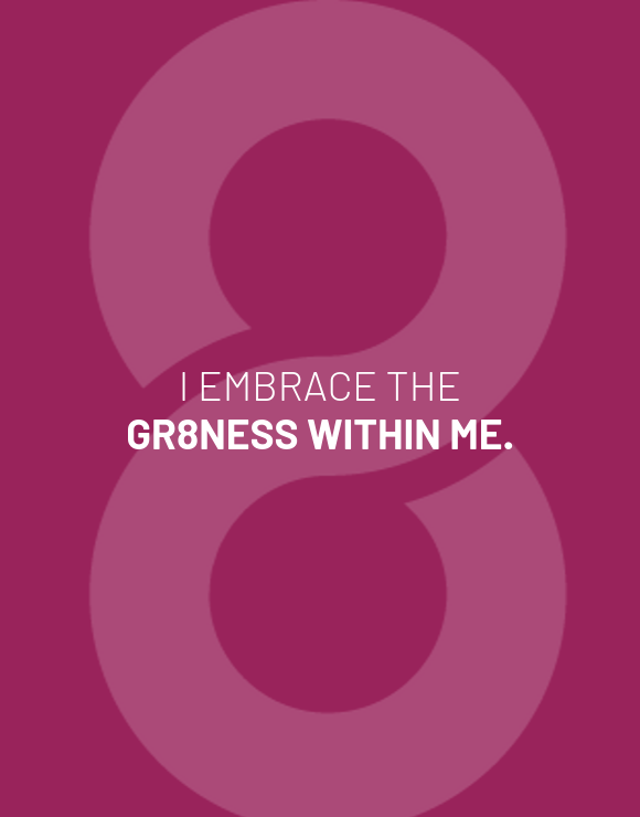 Embrace greatness purple background