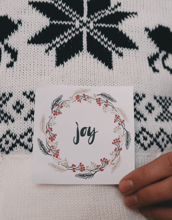 a small holiday note cards with the word