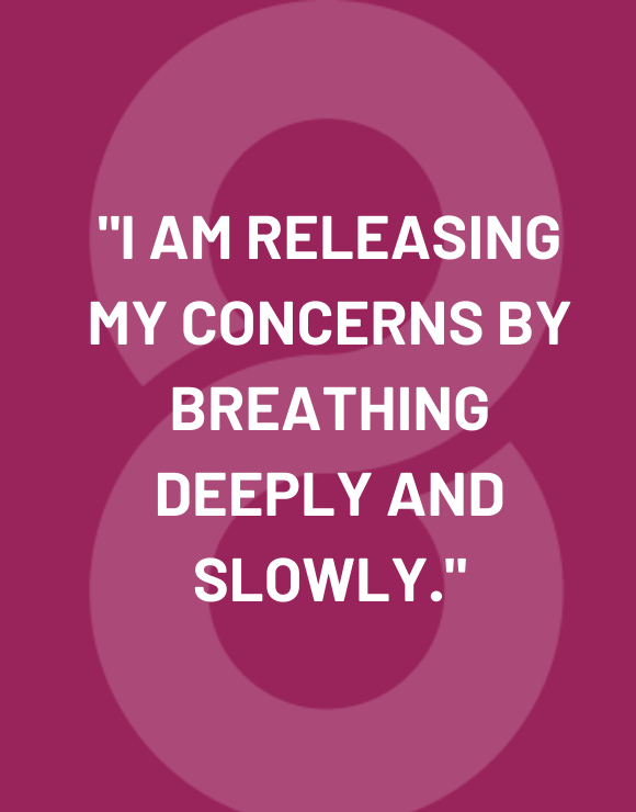 Daily affirmation quote to help with breathing through stress