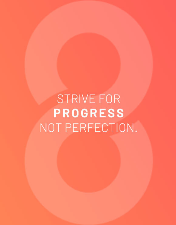 Motivational quote for striving for progress