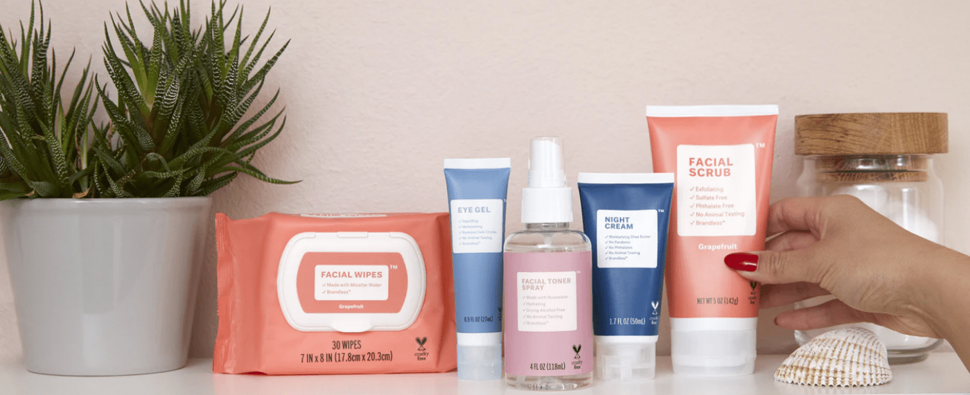 A collection of Korean skincare products on a shelf