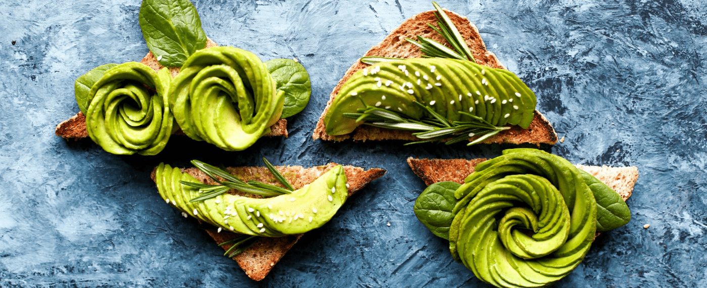 creatively cut avocado on top of toast