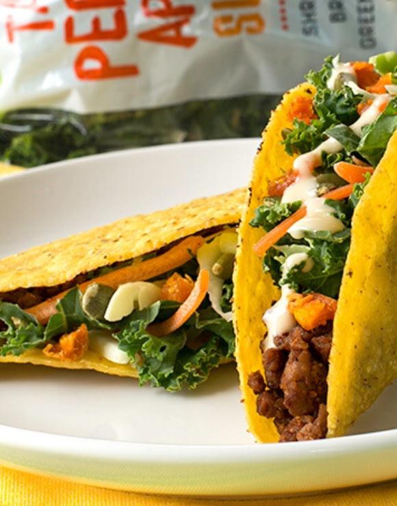 Trader Joe's Tahini, Pepita & Apricot Slaw Healthy Tacos
