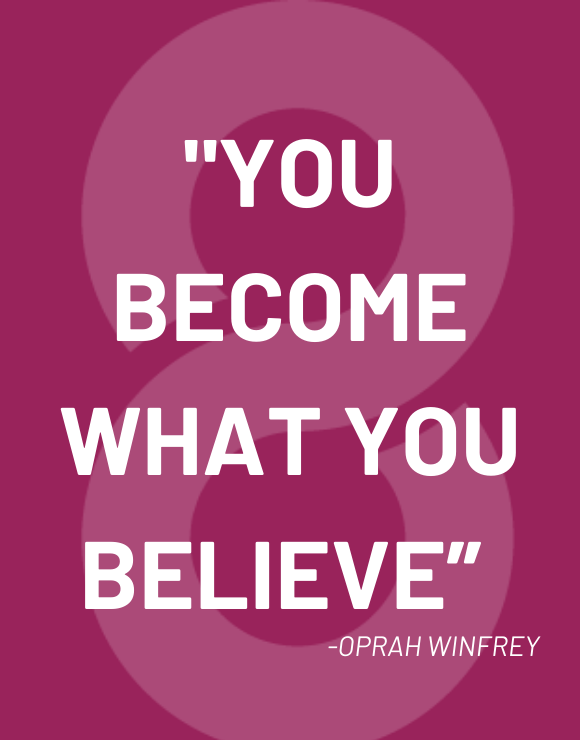 Inspirational quote by Oprah Winfrey about personal growth