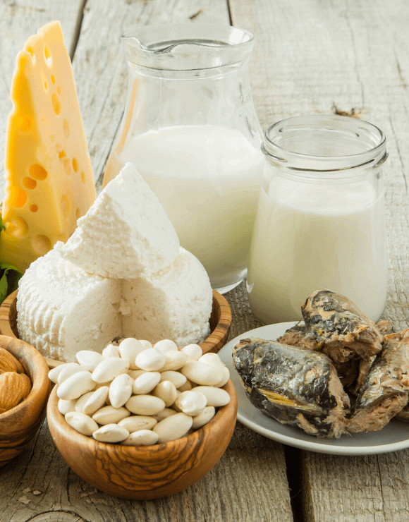 plate of calcium rich foods