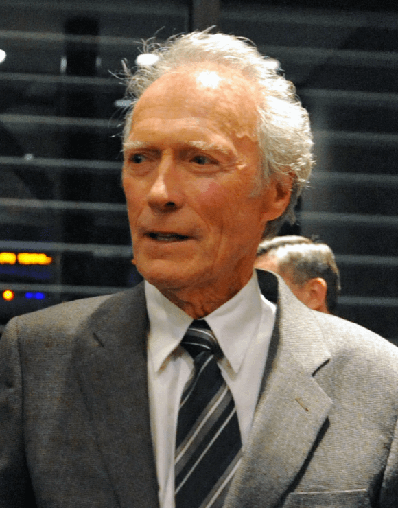 Clint Eastwood looking excited