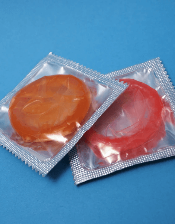 Two unopen packets of condoms