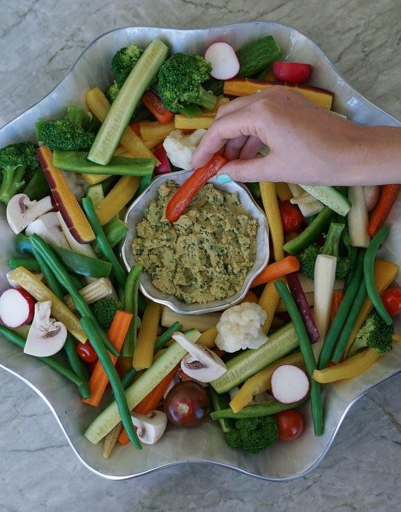 French Crudité Vegetable Wreath
