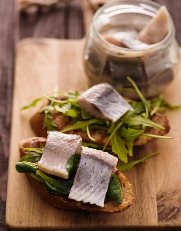 Denmark: Smørrebrød traditional Scandinavian open-faced sandwich