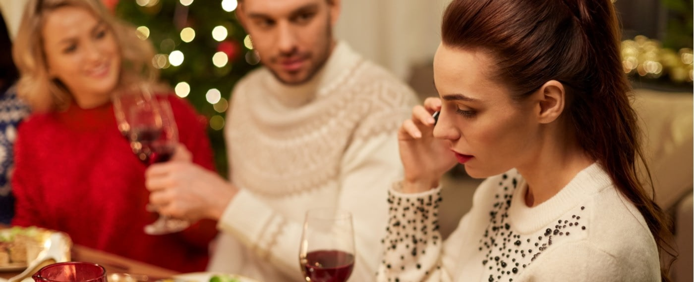 Family concerned with drama at the dinner table