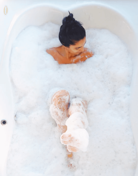 A bath or shower is an important part of your self-care routine