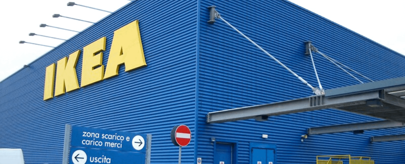 Outside shot of the eco-friendly IKEA building
