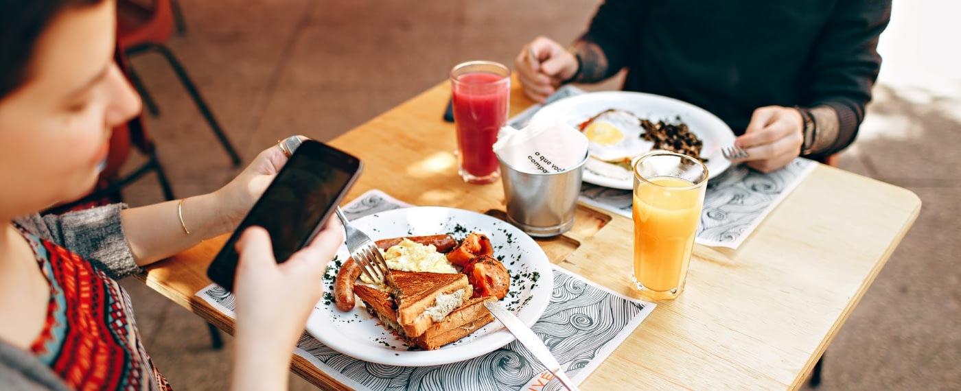 a plate of fried breakfast food that kills gut microbiota