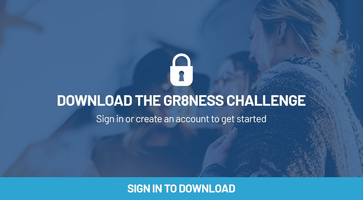 login to see our GR8NESS challenge