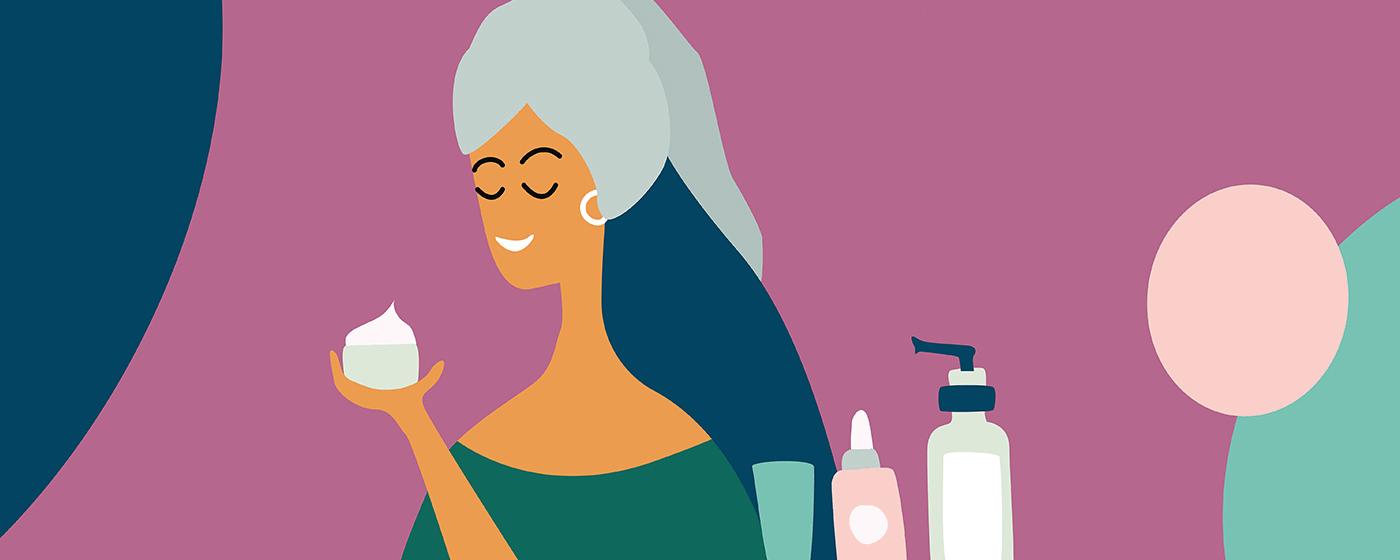 skin care illustration